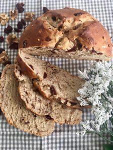 Kruh sa orasima i brusnicama