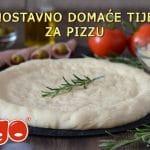 Jednostavno domaće tijesto za pizzu