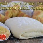 Domaće lisnato dizano tijesto (kroasani, pužići, vijenac)